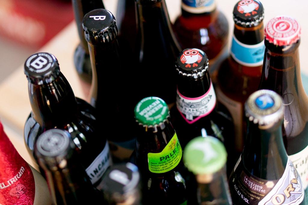 Des bouteilles de bière de la Box