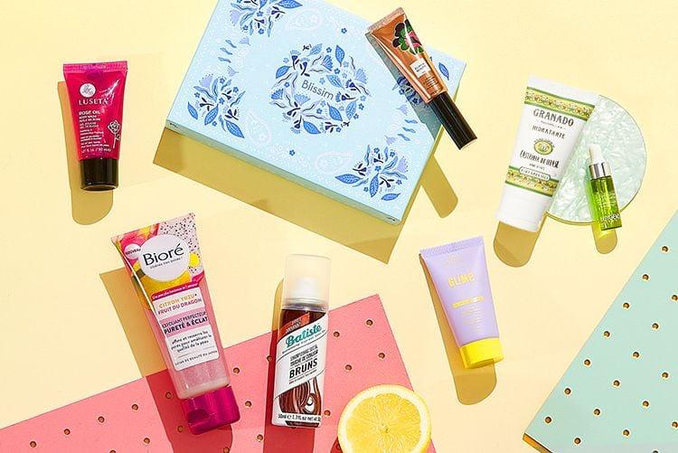 La Box Blissim et ses produits de beauté
