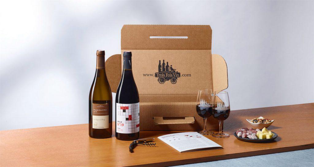 Trois fois vin, Box cadeau homme pour ceux qui aiment le vin