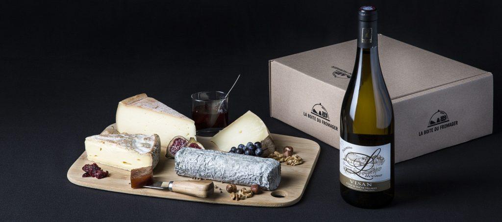La Box fromage et vin de la boite du fromager