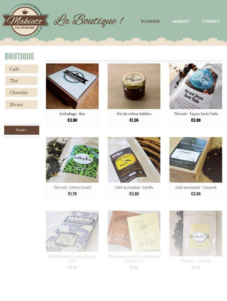 Makiato boutique, les gourmandises à petits prix