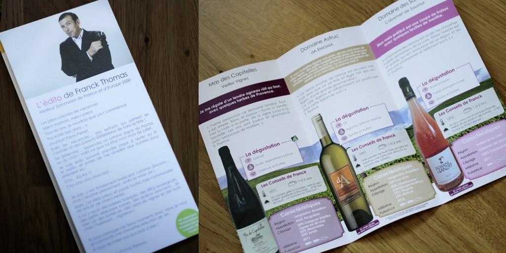 Sélection VineaBox juillet 2014, information produits