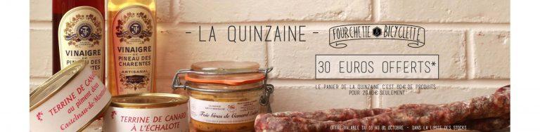 Fourchette et Bicyclette : 30 Euros OFFERTS