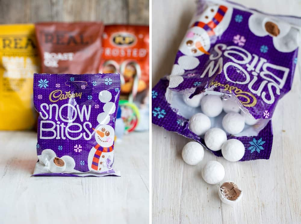 La box Marco de Magellan de décembre 2014 Cadburry Snowbites | Royaume Uni