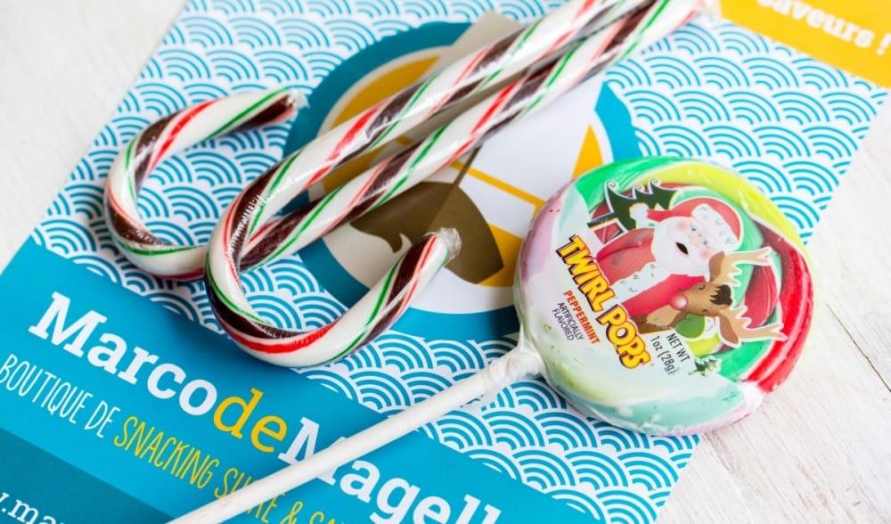 La box Marco de Magellan de décembre 2014 Christmas Twirl Cane & Candy Cane Chocolat-Menthe | USA