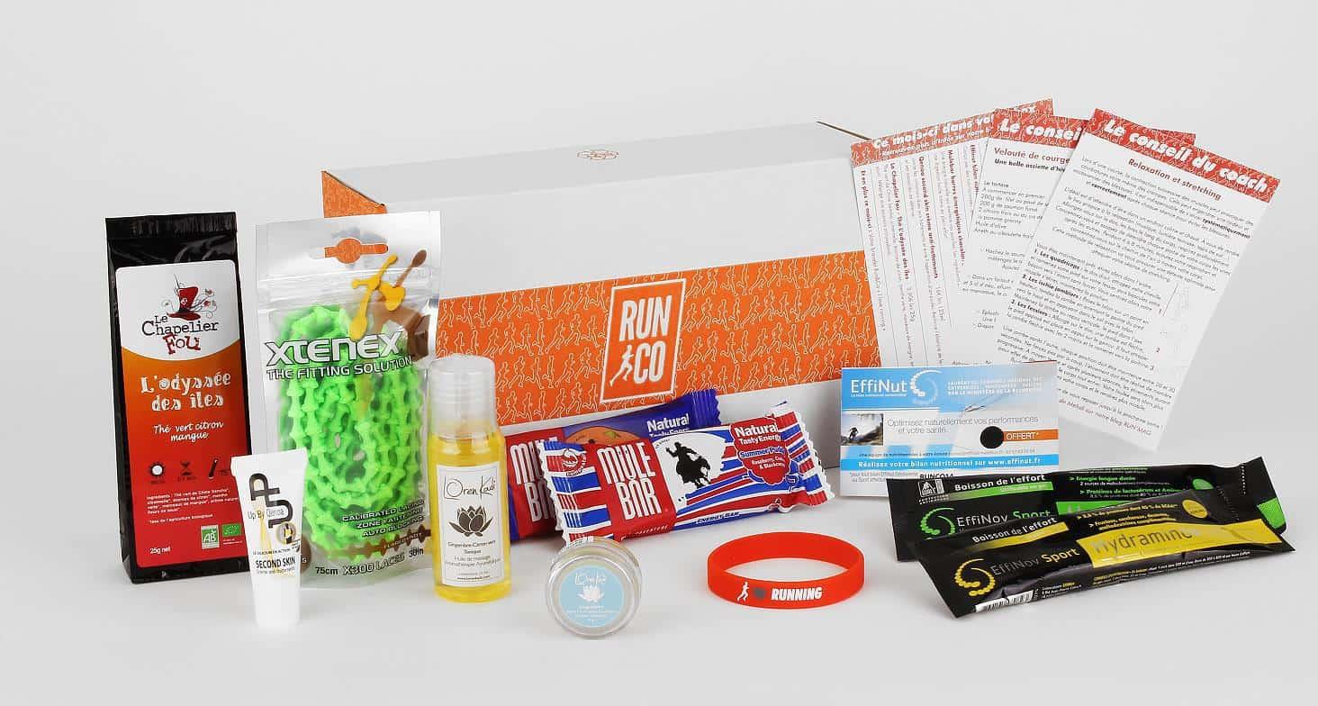 La box Run Co est la première box à abonnement pour les coureurs. Chaque  mois, les abonnés découvrent une sélection de 5 à 7 produits innovants  ainsi que ... 0b3d5e4361e