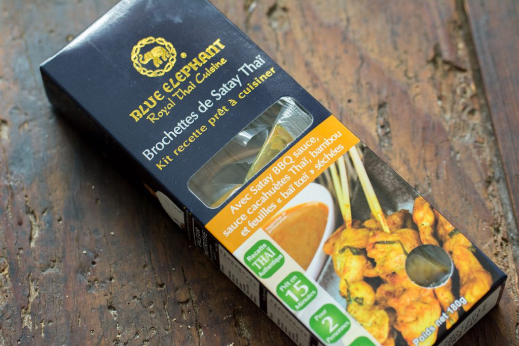 Gourmibox juin 2015 | Kit pour brochettes Satay Thaï | Blue Elephant