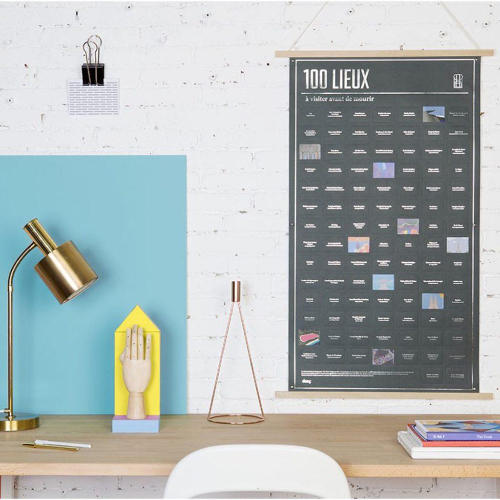 Une affiche avec des cases à ouvrir