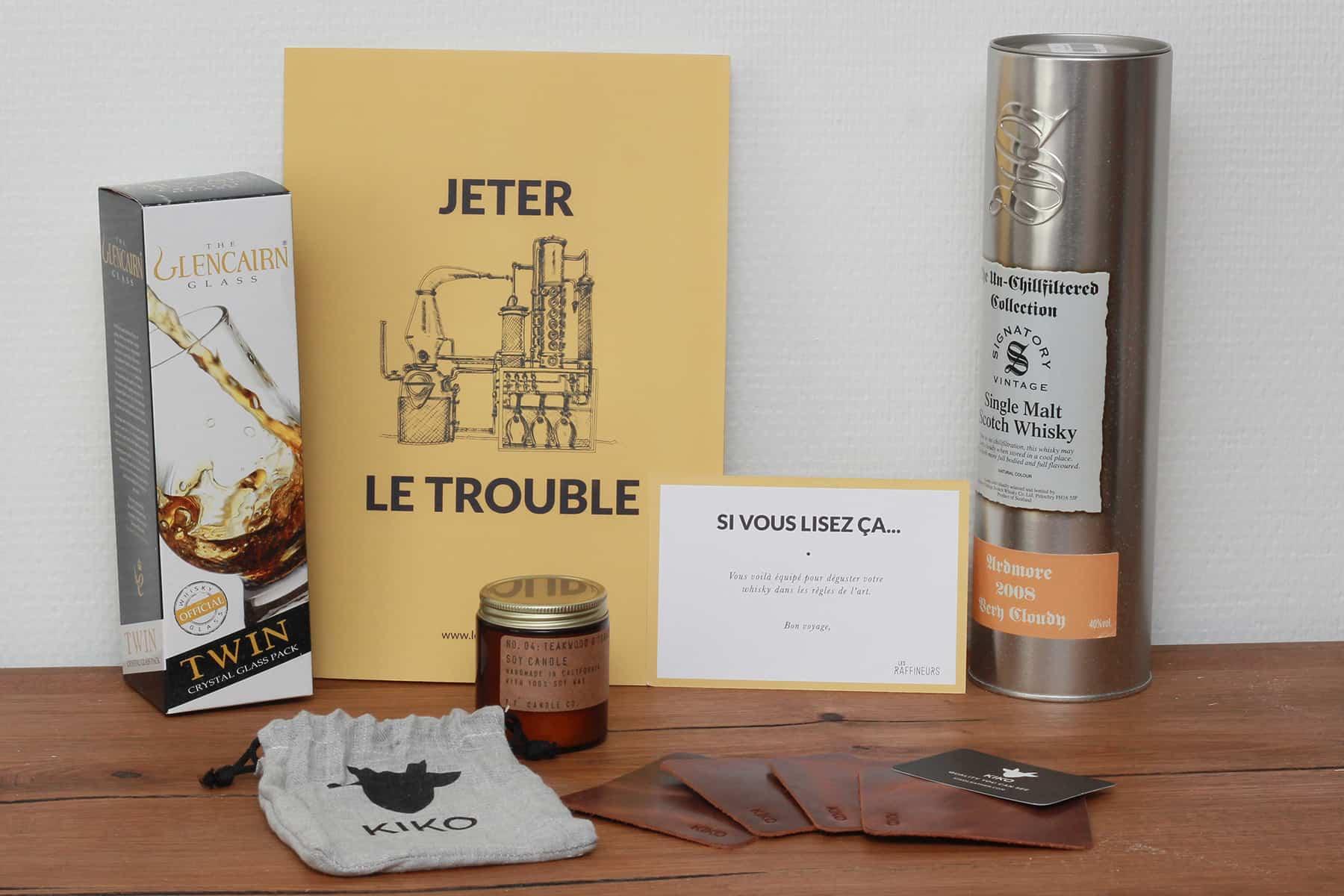 Caisse de dégustation de whisky