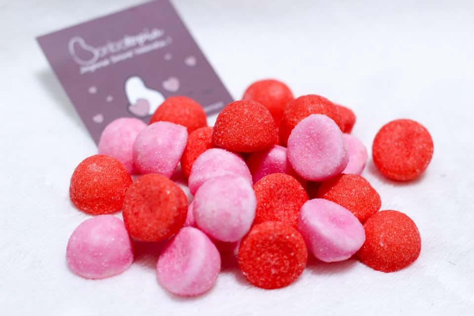 gout schtroumpf rouge bonbon