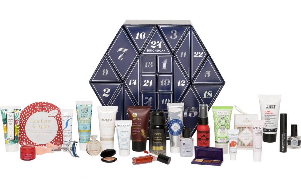 La calendrier de lavent Birchbox et ses produits