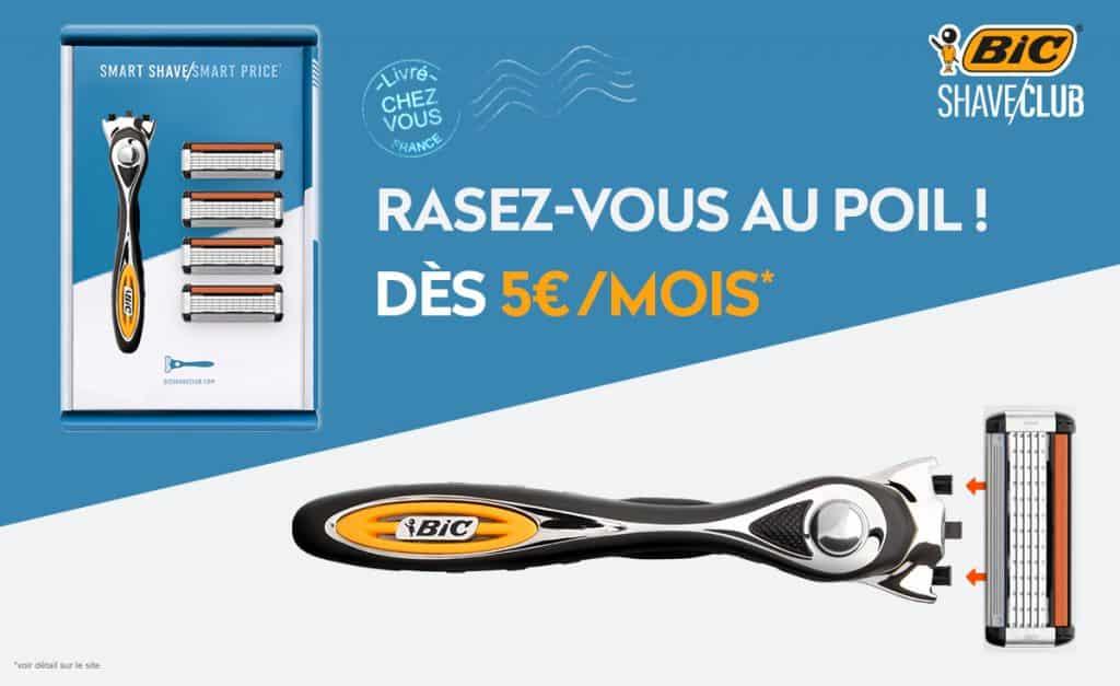 Bic Shave Club : L'abonnement rasage à partir de 5€ / Mois