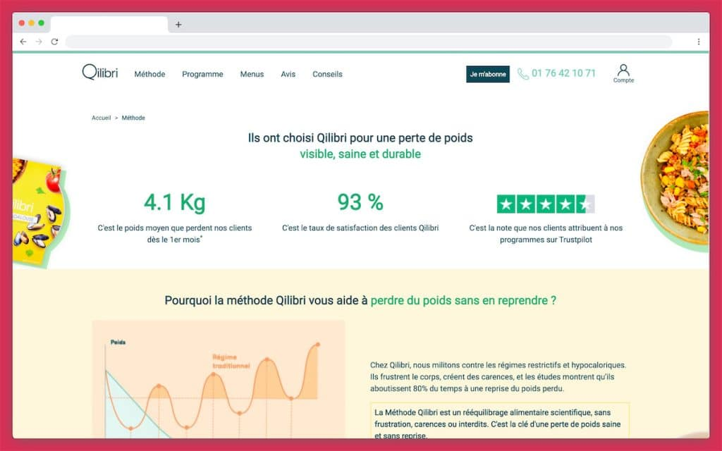 Le site internet de Qilibri