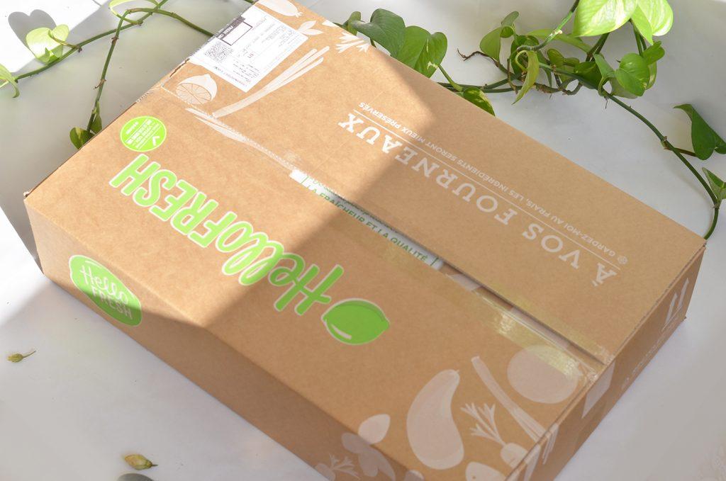 Avis HelloFresh : la boîte que j'ai reçue
