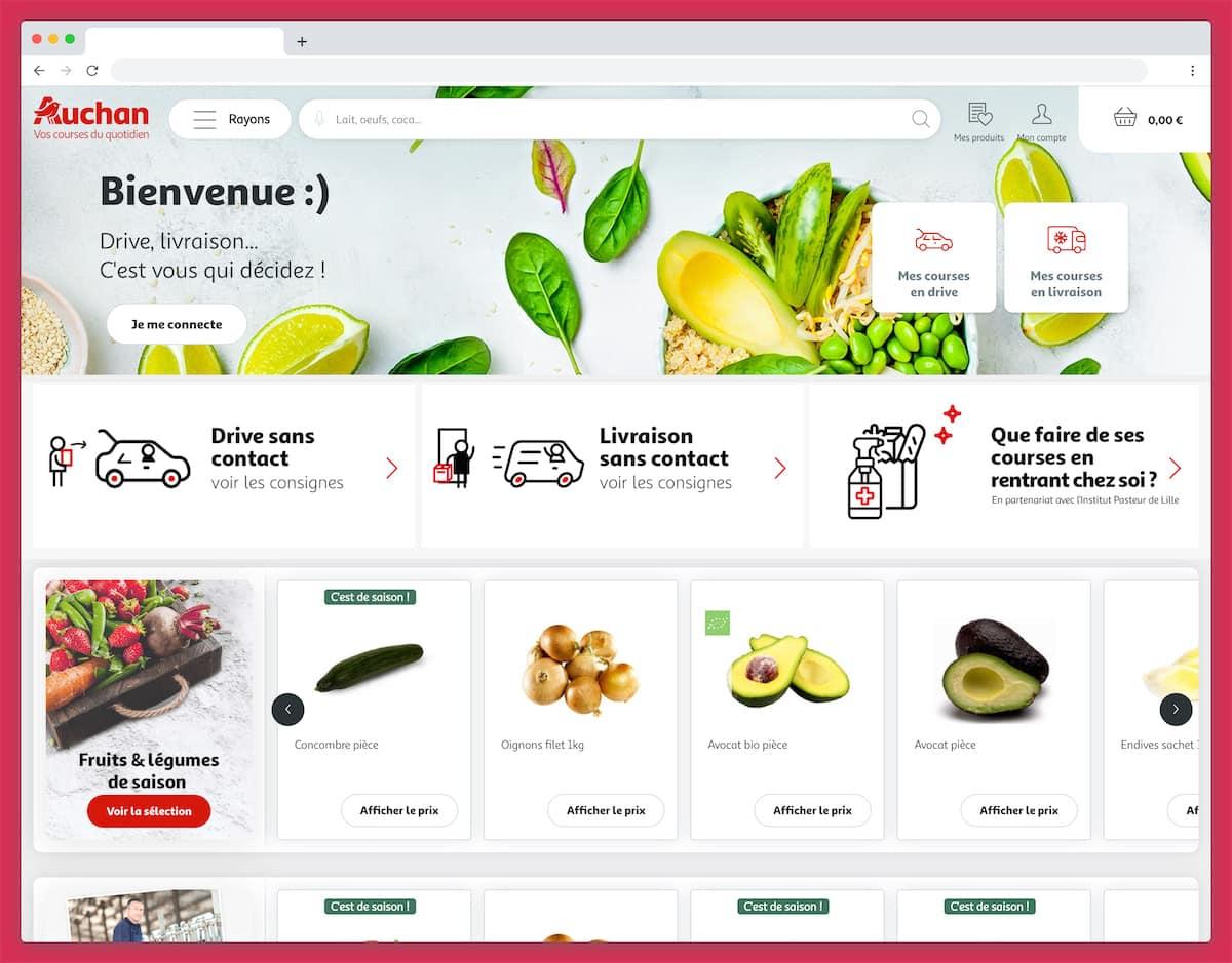 Le site de courses en ligne d'Auchan direct