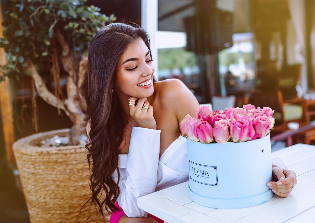Une Box de roses de la luvbox