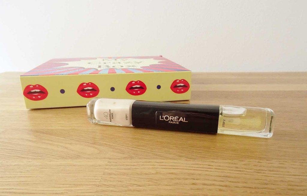 box arty my crazy box unboxing vernis infaillible l'oréal