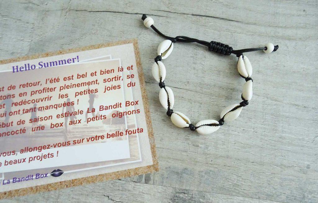 bandit box bracelet coquillages