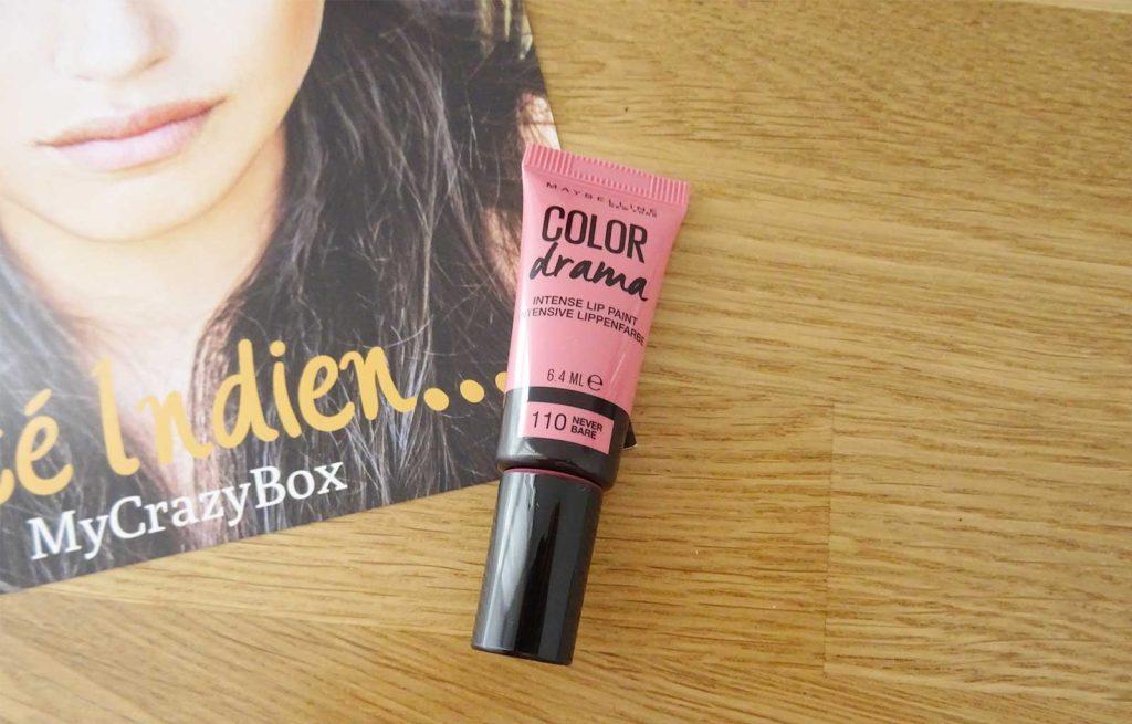 My crazy box été indien color drama lip paint maybelline