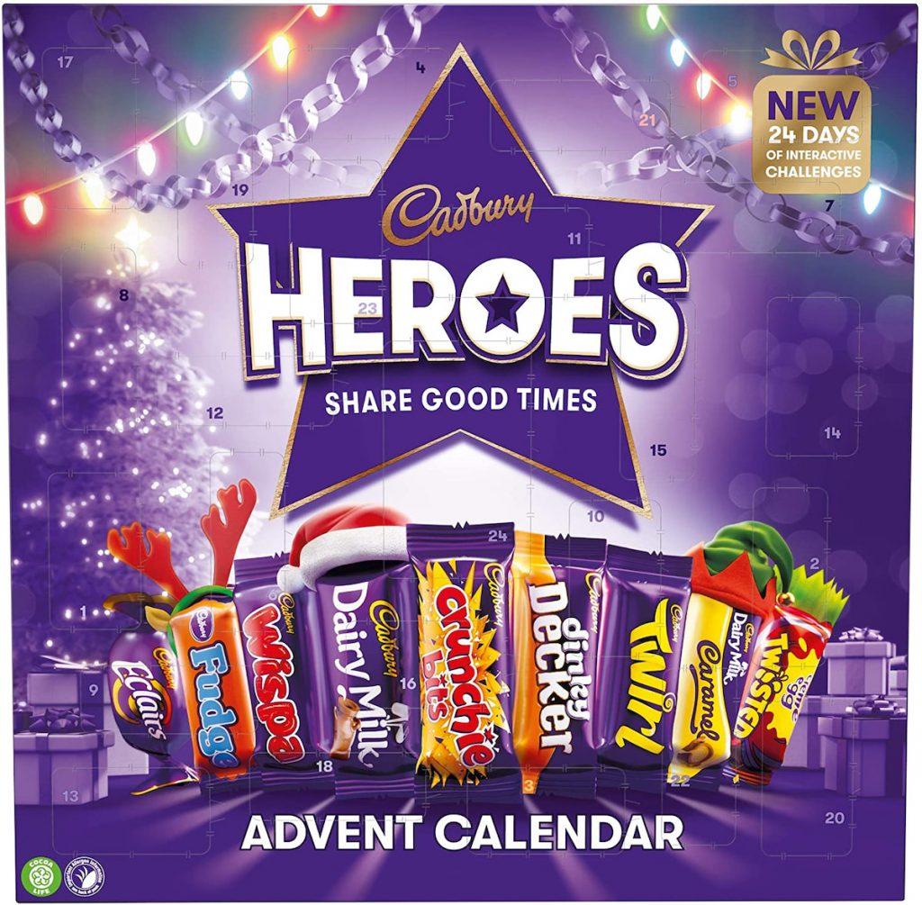 Cadbury est une des grandes marques à faire des calendriers de l'avent chocolat