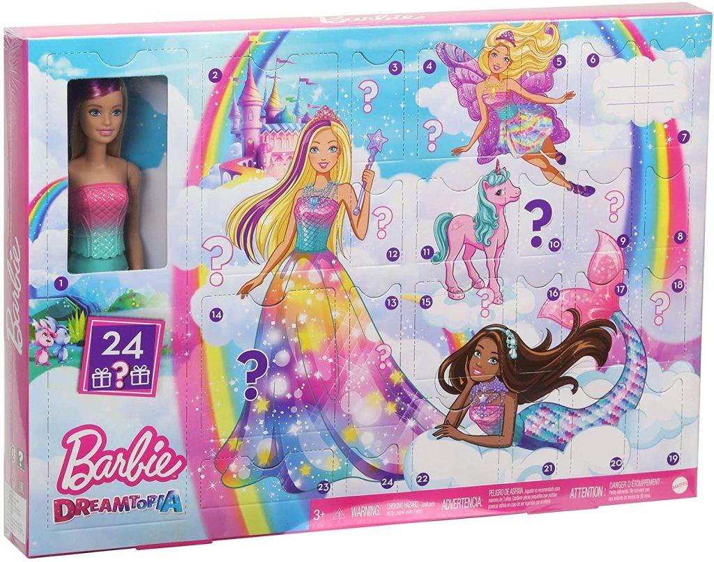 Calendrier de l'avent enfant de Barbie