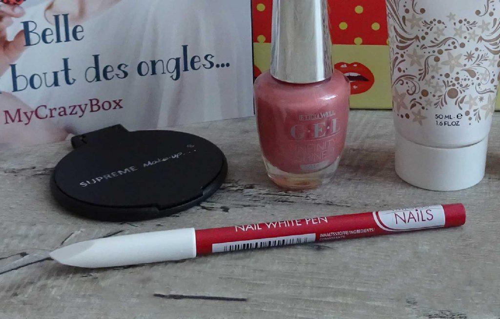 crayon blanc Miracle nails