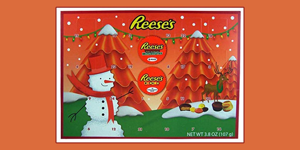 Reese est un incontournable des calendriers de chocolat en attendant Noël