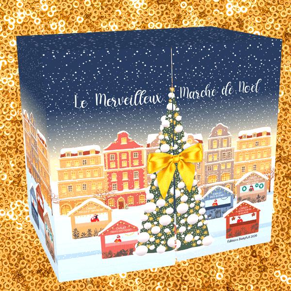 """Le calendrier beauté bio """"Le Merveilleux Marché de Noël"""""""