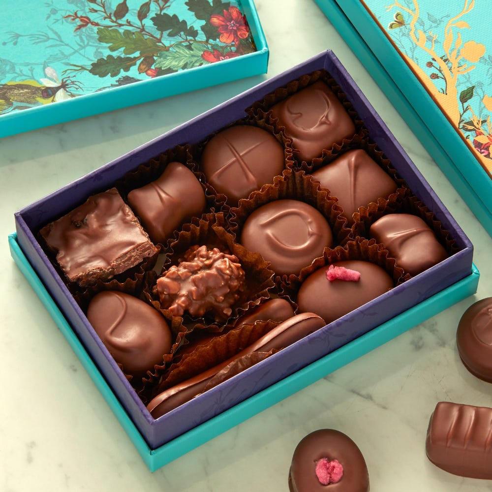 Un exemple de coffret cadeau chocolat
