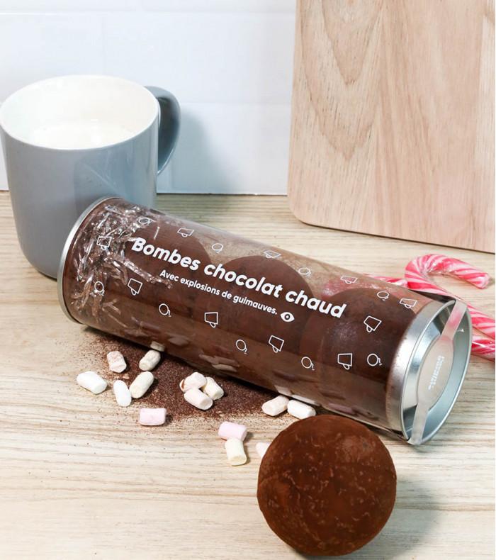 Coffret de bombes pour chocolat chaud aux chamallows
