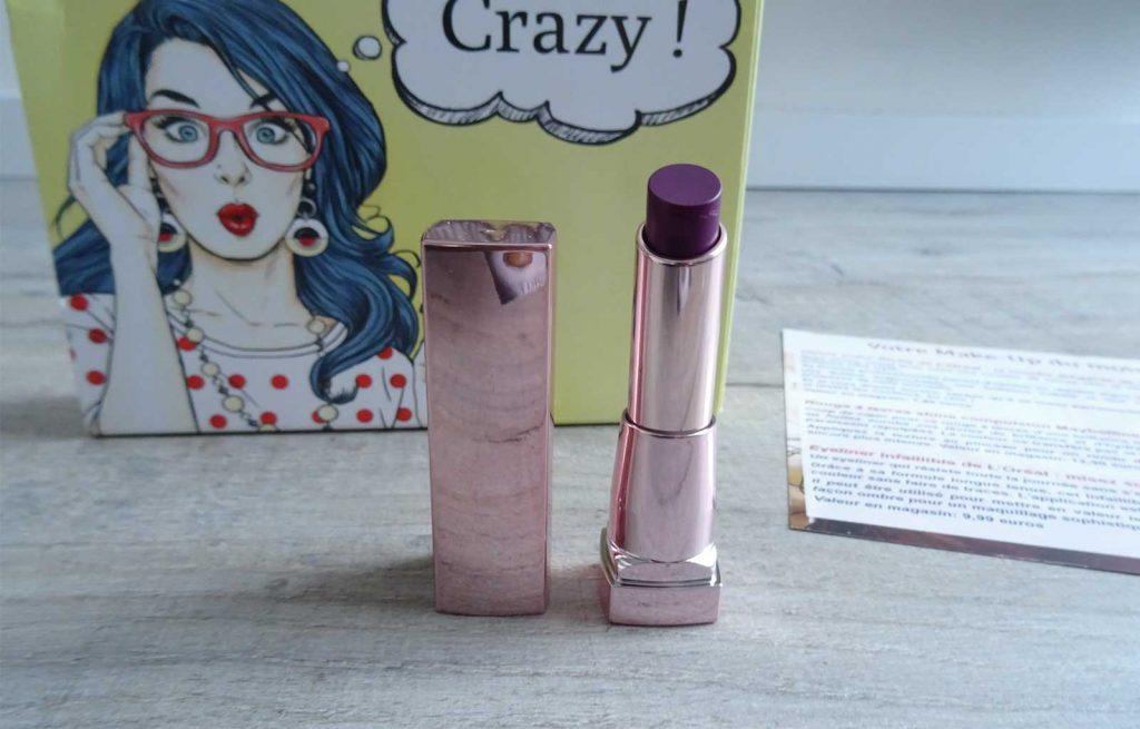 rouge à lèvres shine maybelline