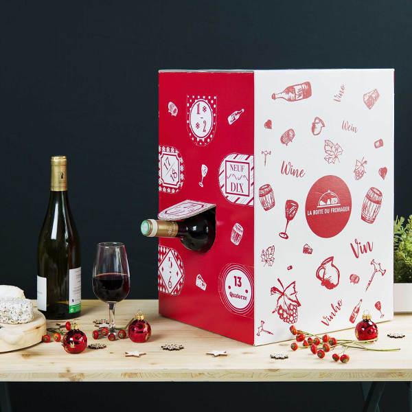 Le calendrier de l'avent vin de La Boîte du Fromager