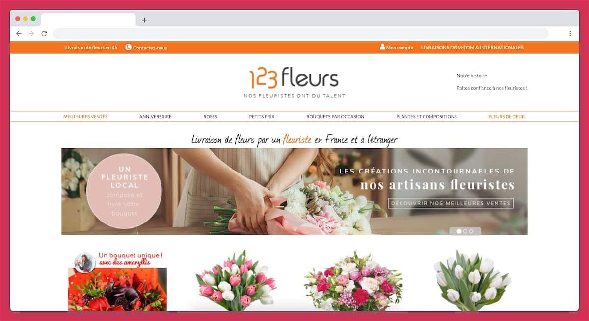123fleurs : un service de livraison de fleurs de 145 pays