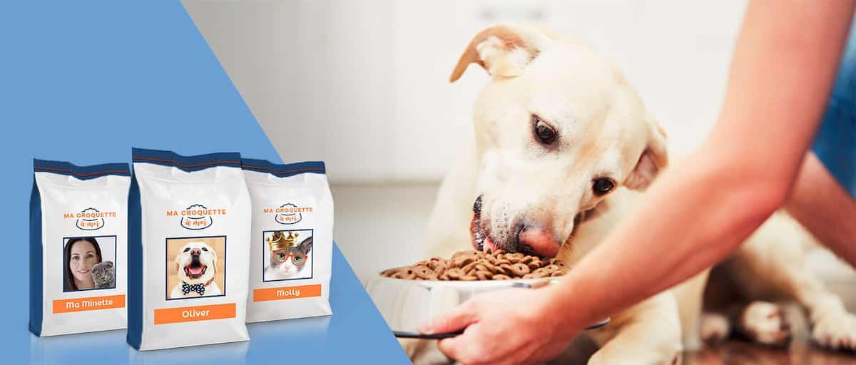 Ma croquette à moi, les croquettes pour chien personnalisées jusqu'à l'emballage.