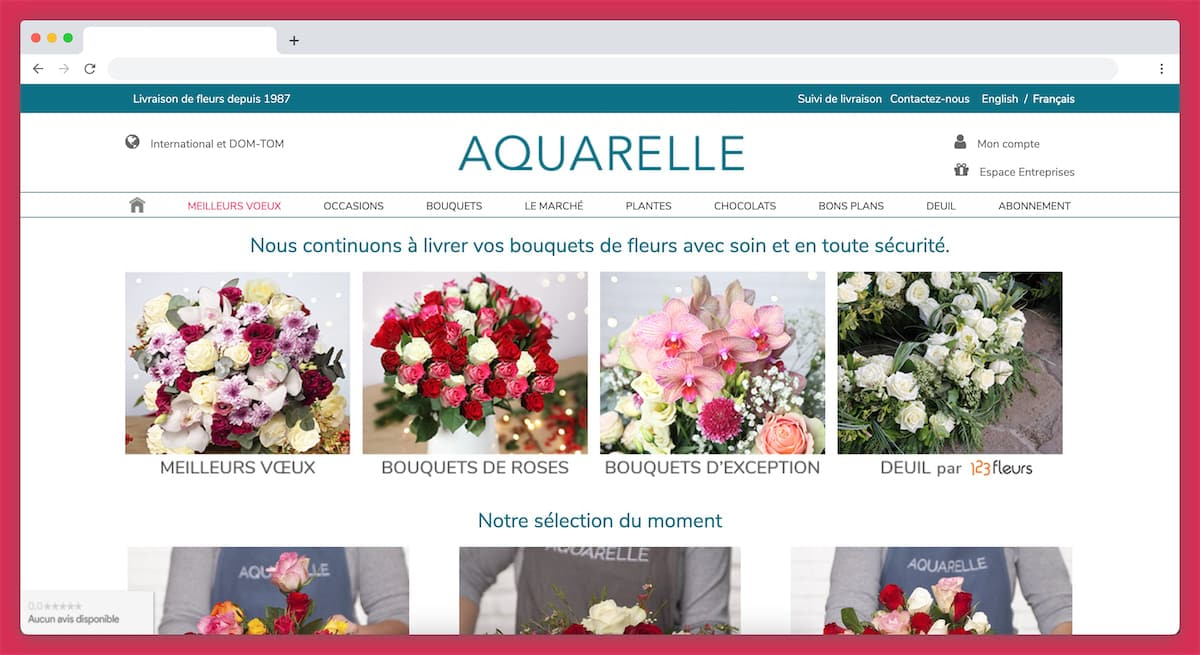 Aquarelle livre des fleurs depuis 1997