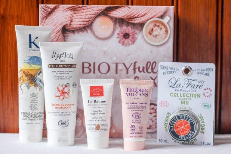 Un coffret beauté de produits Bio