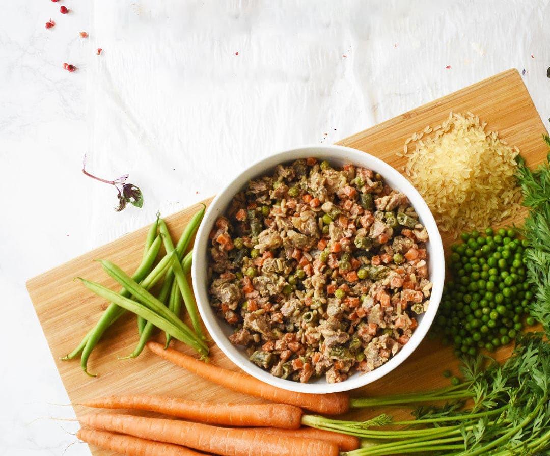 Une assiette de nourriture personnalisée pour chien