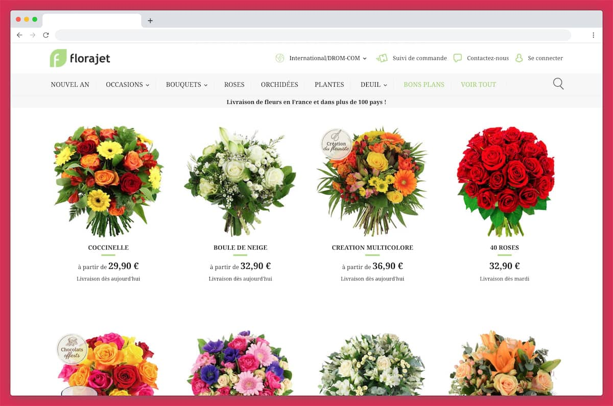 Florajet a une très bonne réputation pour livrer des fleurs