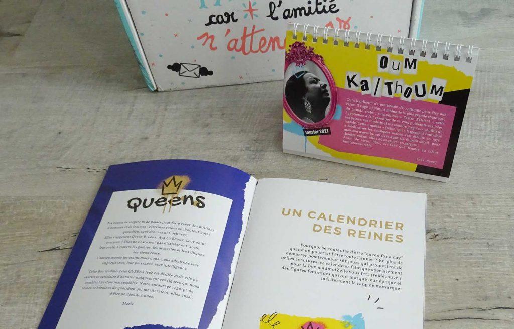 box madmoizelle queens calendrier