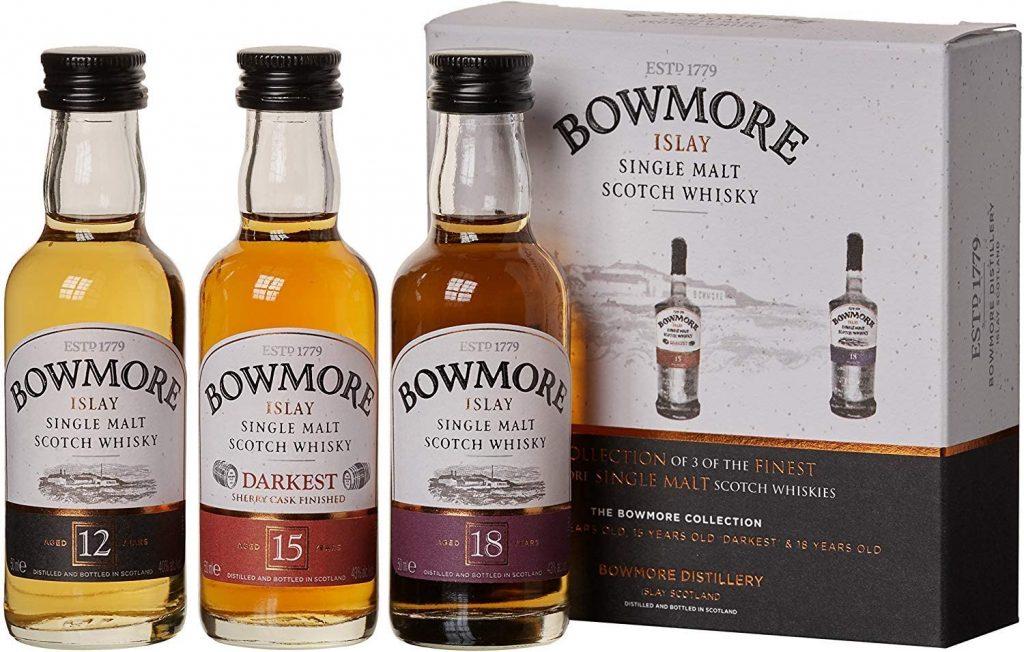 Un set de 3 whiskys miniatures Bowmore pour varier les plaisirs