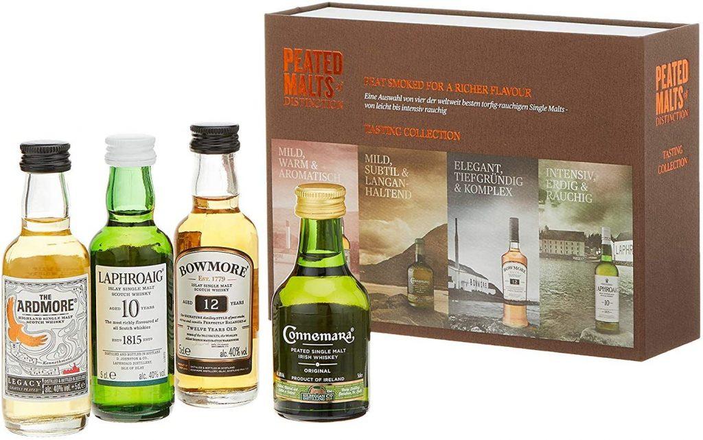 Coffret de 4 miniatures pour les amateurs de whiskies irlandais et écossais