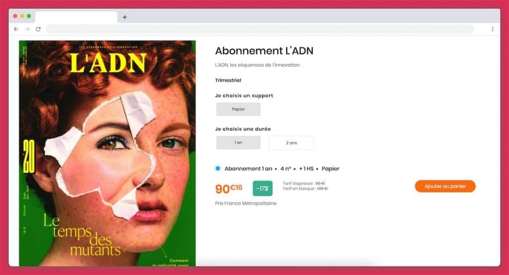 abonnement magazine adn