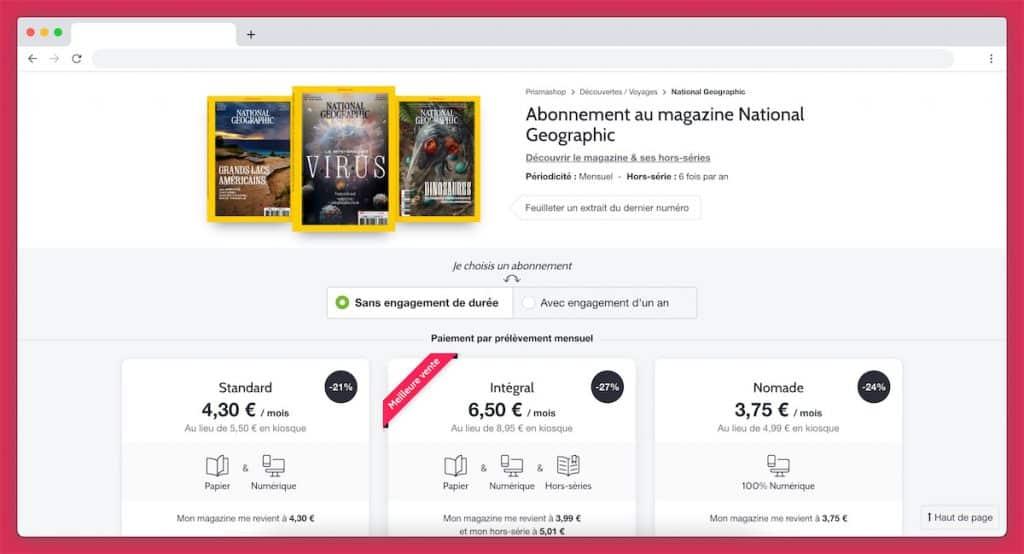 abonnement magazine national geo