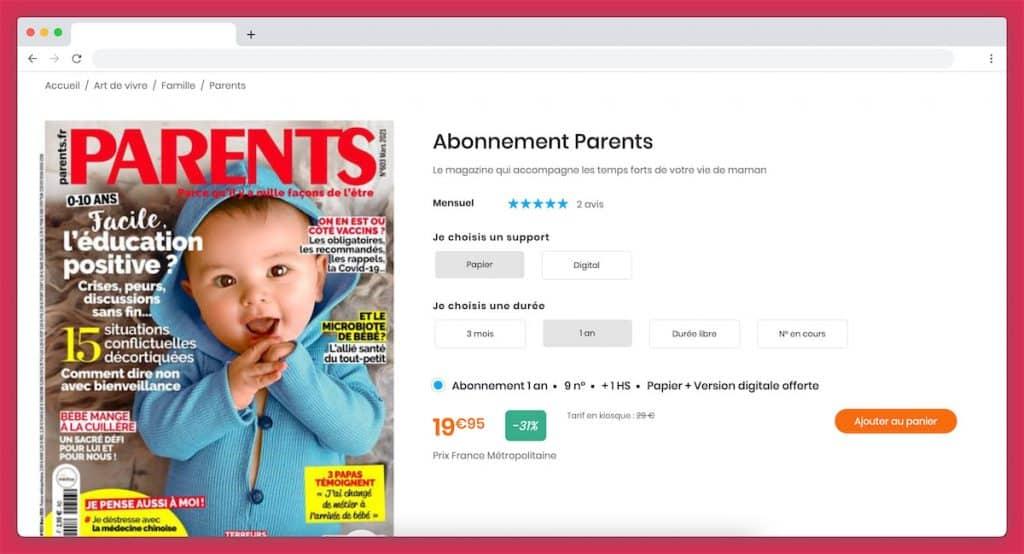 abonnement magazine parents