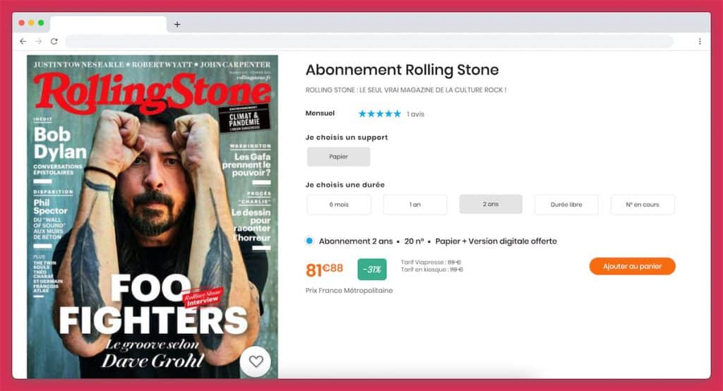 abonnement magazine musique