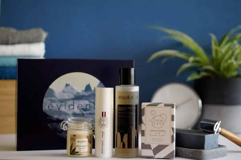 Evidence Box : l'essentiel des soins corps et visage pour homme