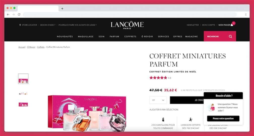 Le coffret miniature parfum de Lancôme : la marque emblématique