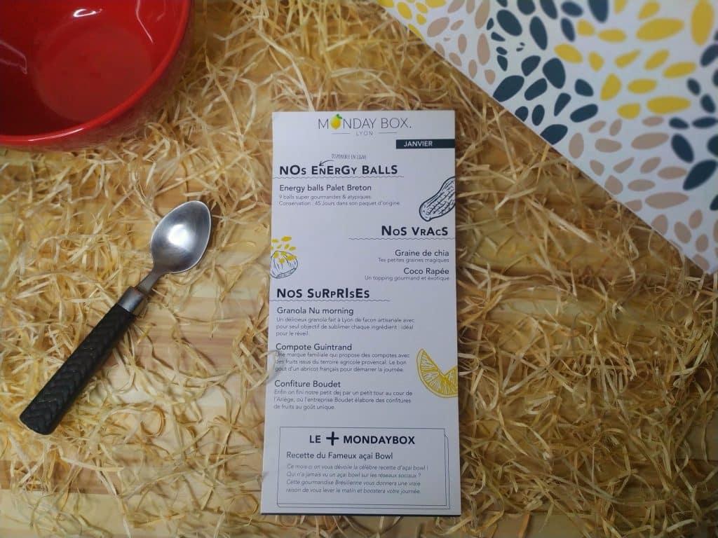 monday box menu