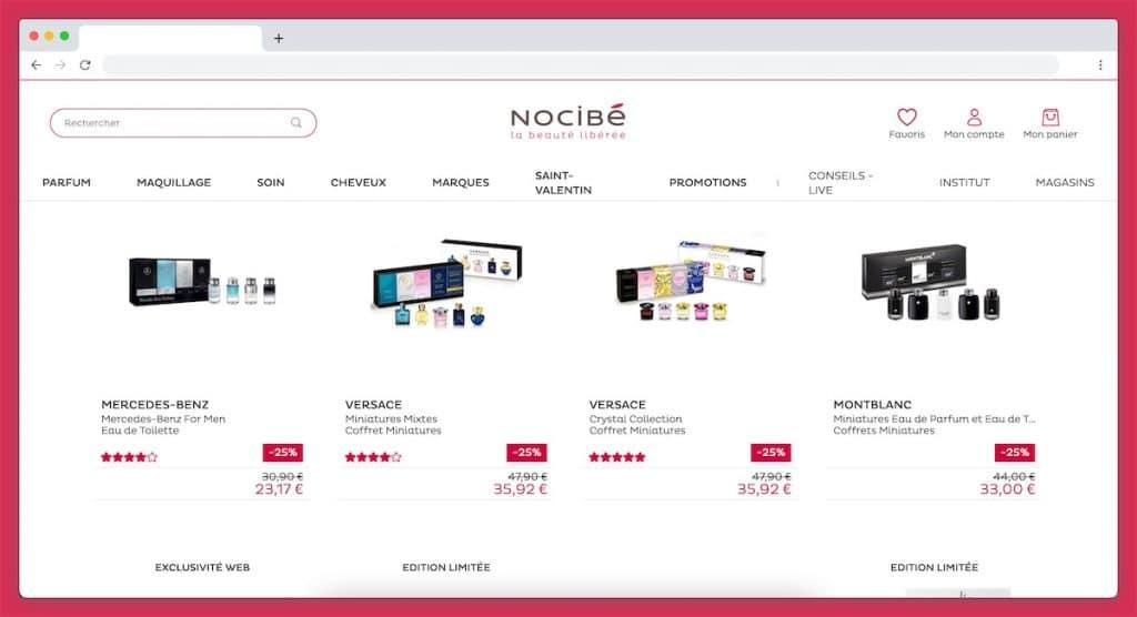 Les coffrets miniatures de chez Nocibe : les coffrets à tous les budgets
