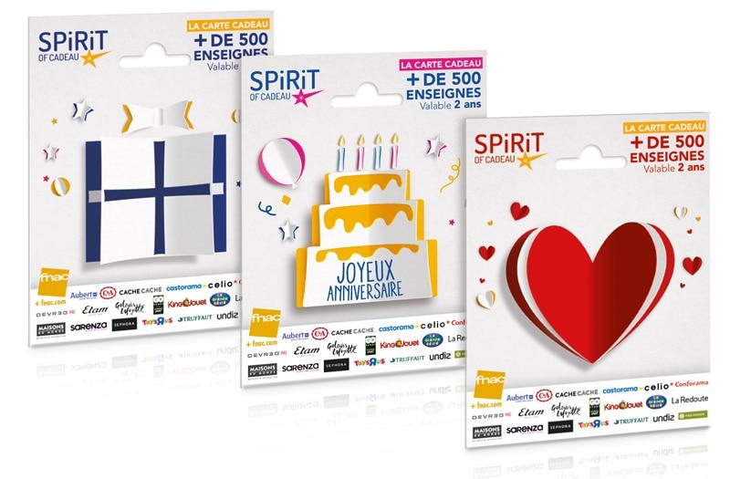 carte cadeau multi enseigne Spirit of cadeau